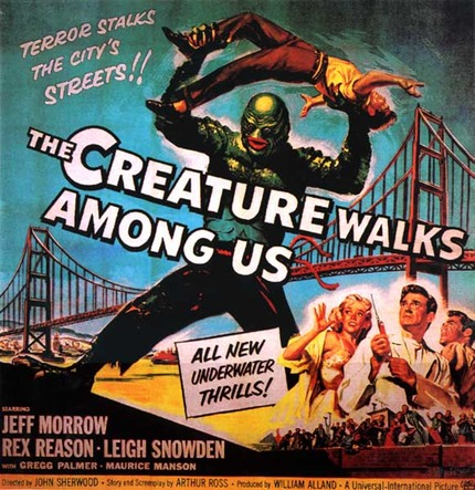 POSTER - THE CREATURE WALKS AMONG US